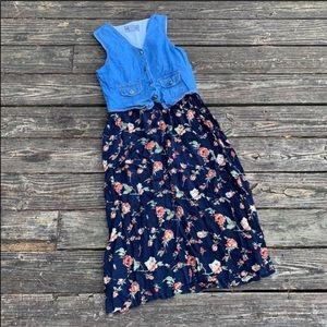 Speed Control   Navy Blue floral maxi dress jr. 11
